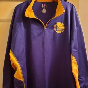 Golden State Warriors 1/4 zip jacket